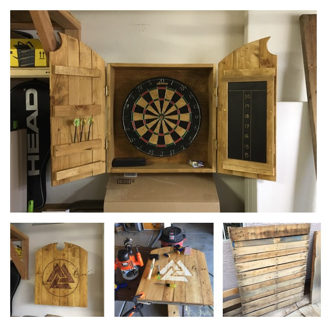Beautiful Dartboard Cabinet