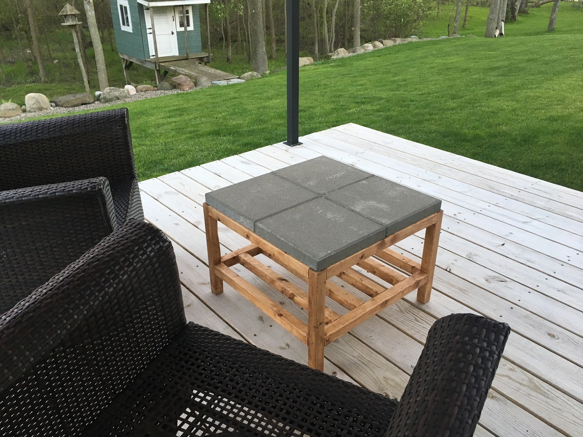 Ana White Simple Paver Coffee Table Patio Diy Projects
