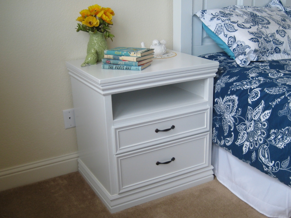 Ana white not so rhyan nightstands diy projects for Nightstand plans
