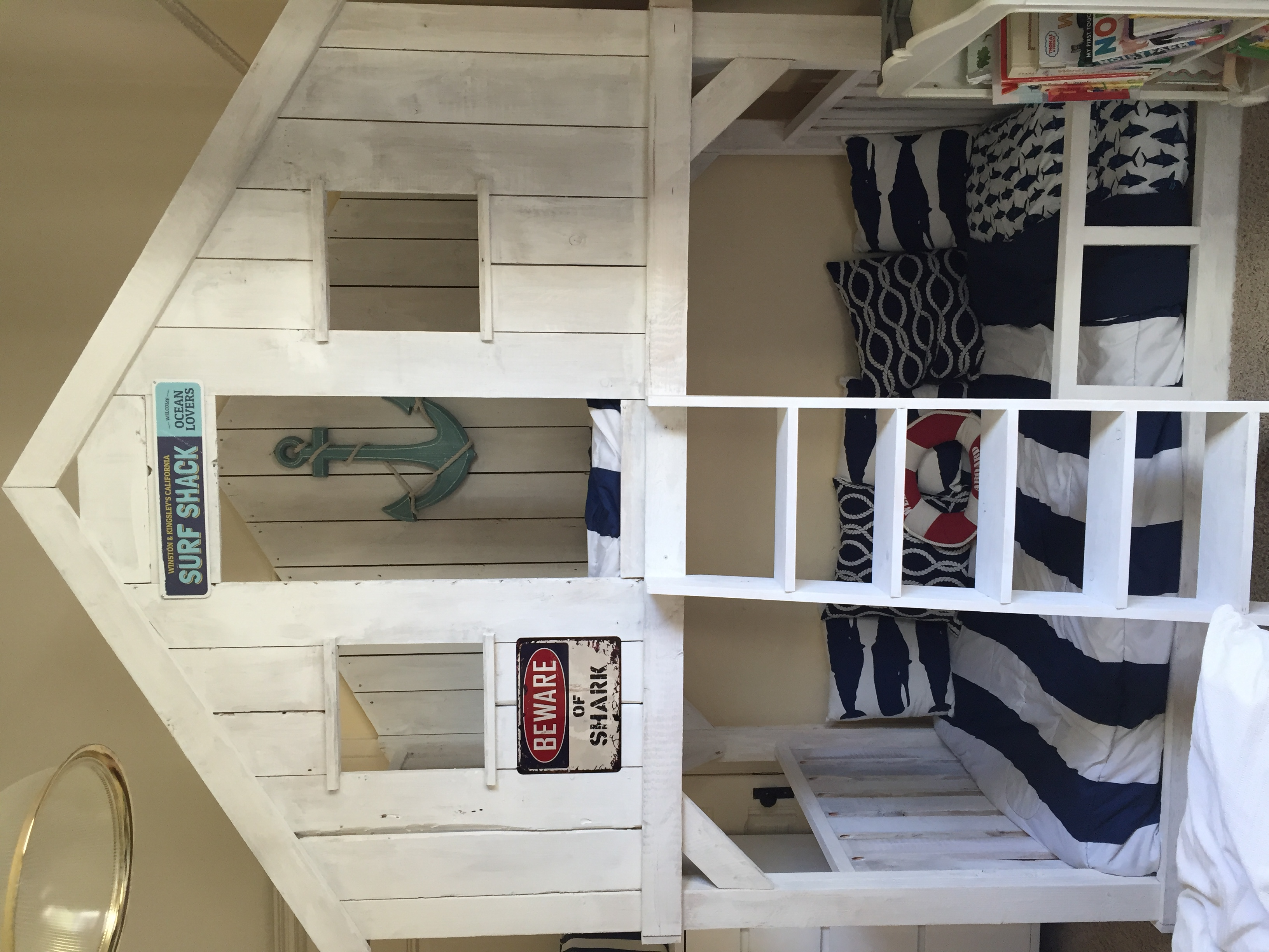 Surf Shack Bunk Bed Using Club House Bed Plans Ana White