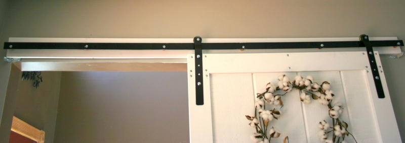 diy barn door and hardware for around 80