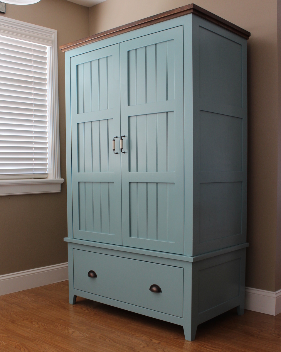 ana white french county wardrobe diy projects. Black Bedroom Furniture Sets. Home Design Ideas