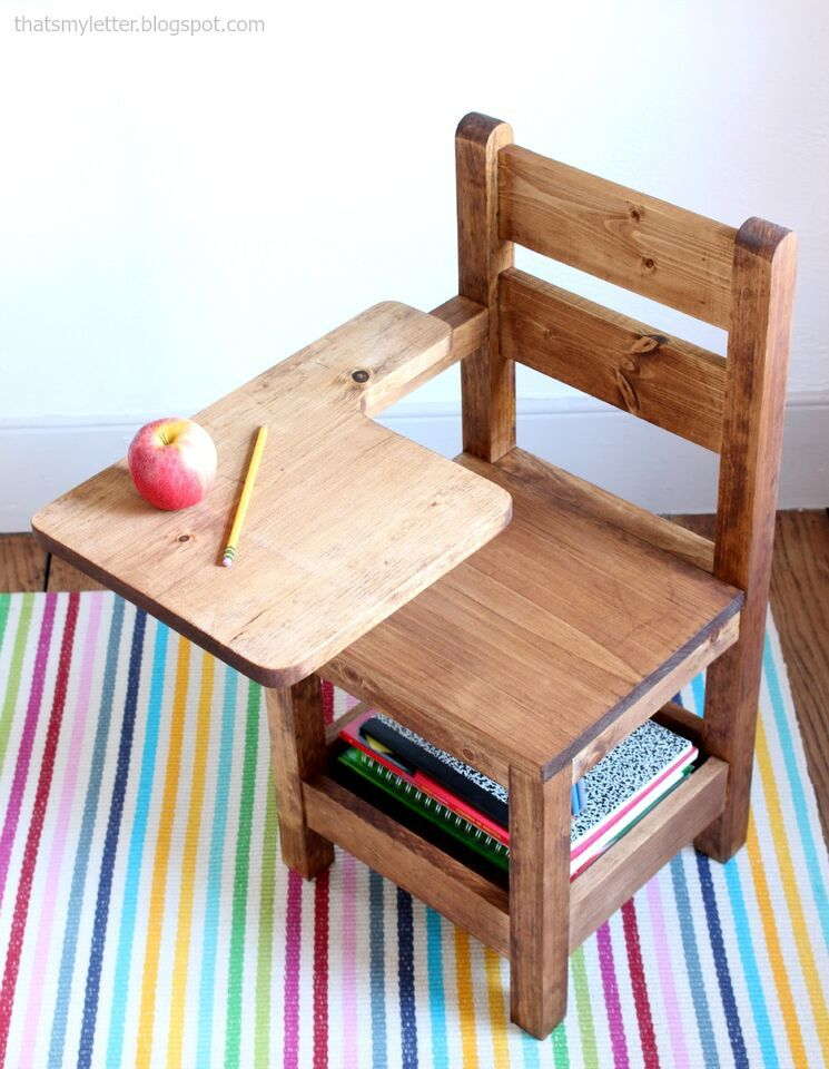 Schoolhouse Chair with Writing Pad Desk & Ana White | Schoolhouse Chair with Writing Pad Desk - DIY Projects