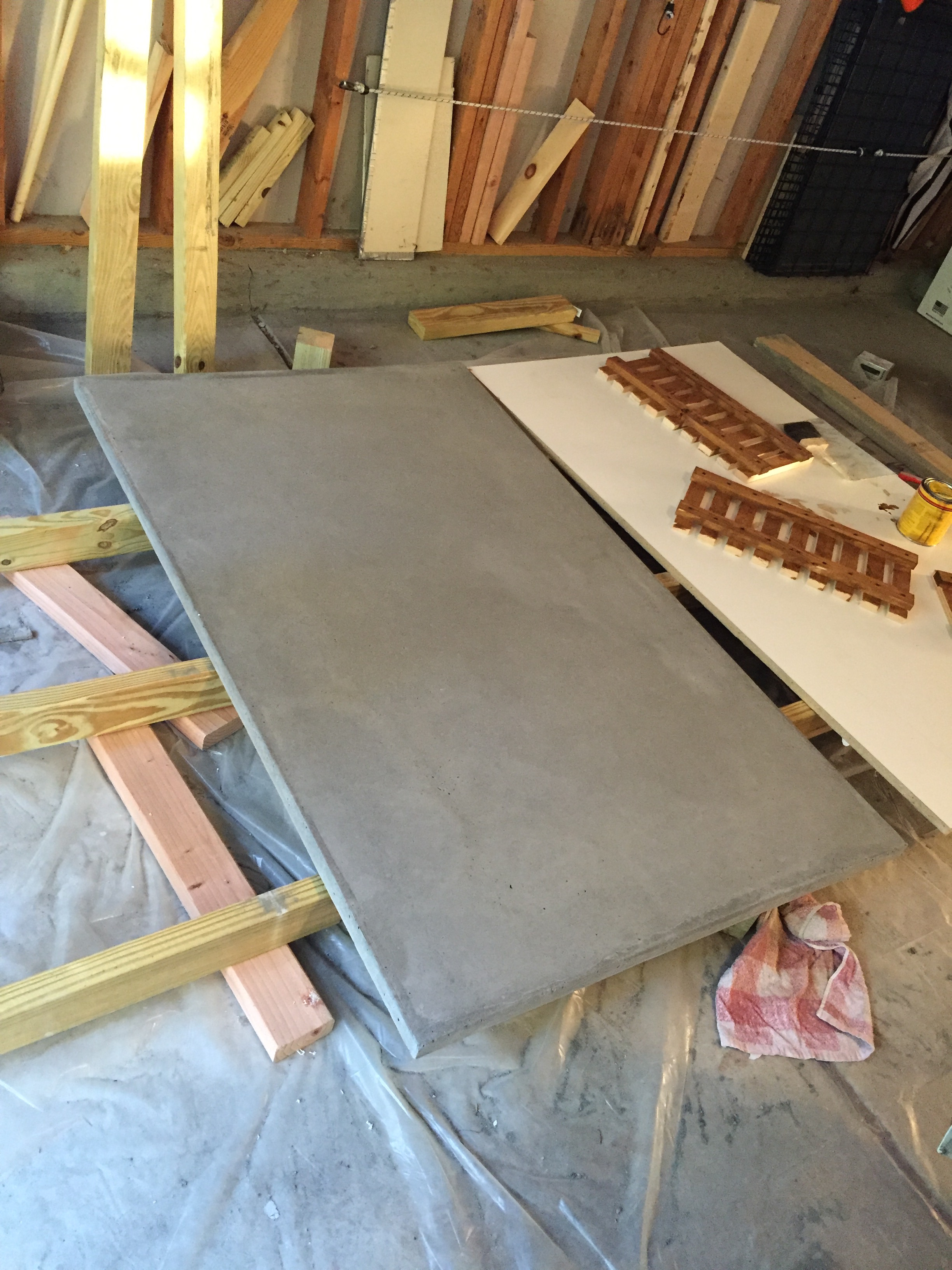 Ana White Rustic Concrete Island Diy Projects