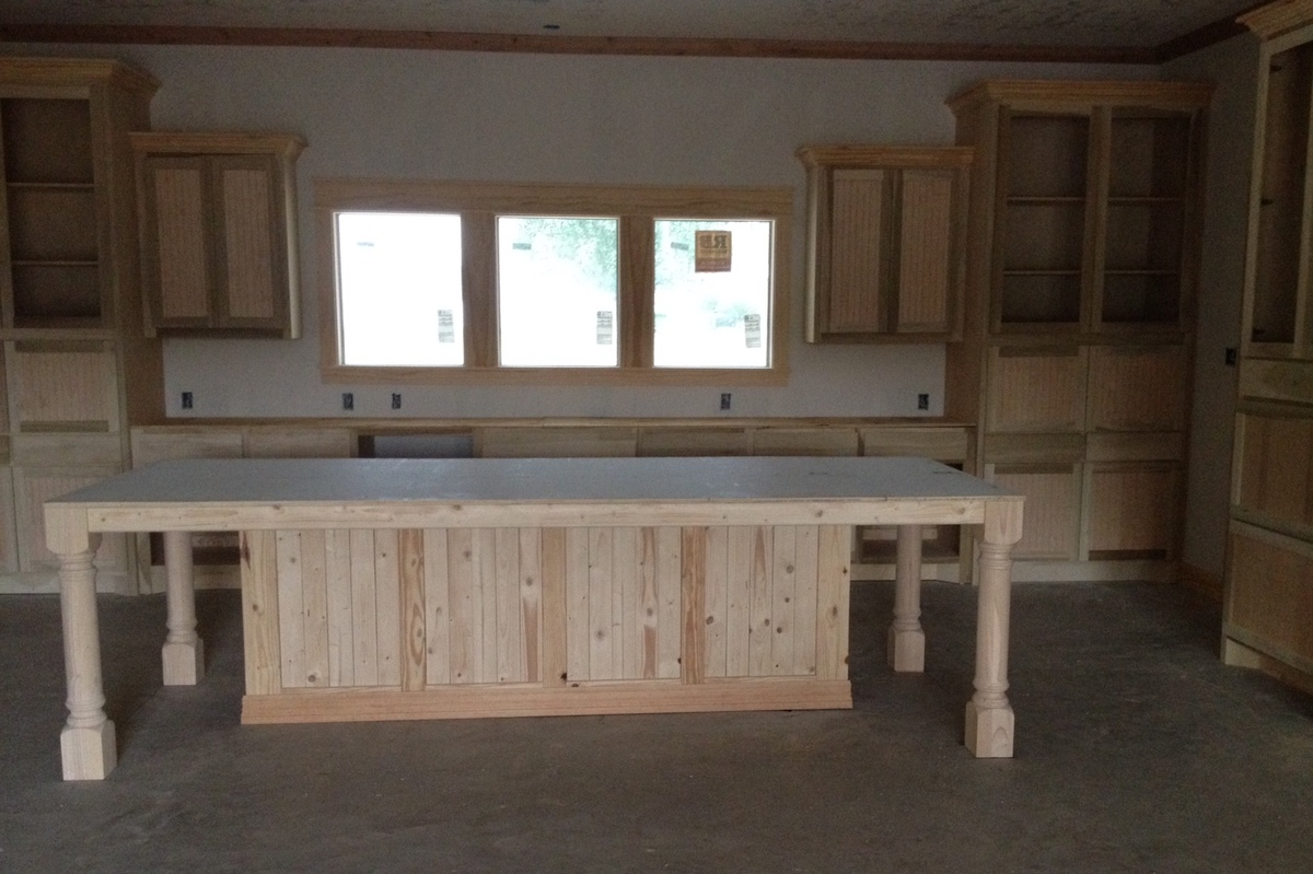 Custom Kitchen Island ana white | custom kitchen island - is this the biggest version of