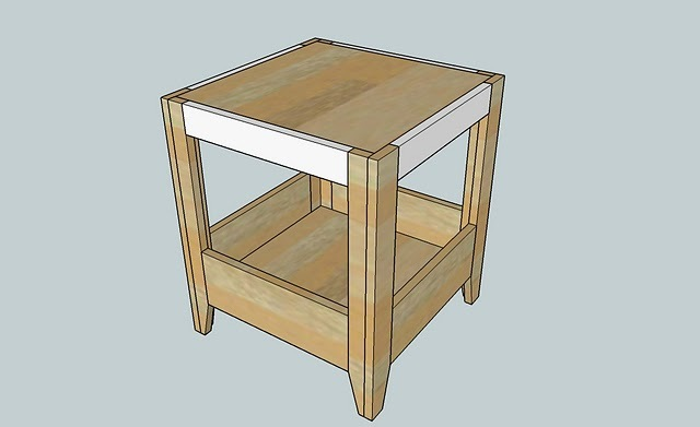 Now add the side compatment trim shown in white above. Use 2u2033 nails and glue and nail into the bottom shelf. Also toenail the top edge of the 1×6 into the ... & Ana White | PLAN: Kidu0027s Storage Play Table - DIY Projects