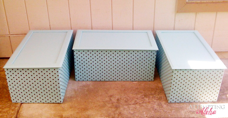 Upholstered Toy Boxes From Old Kitchen Cabinets
