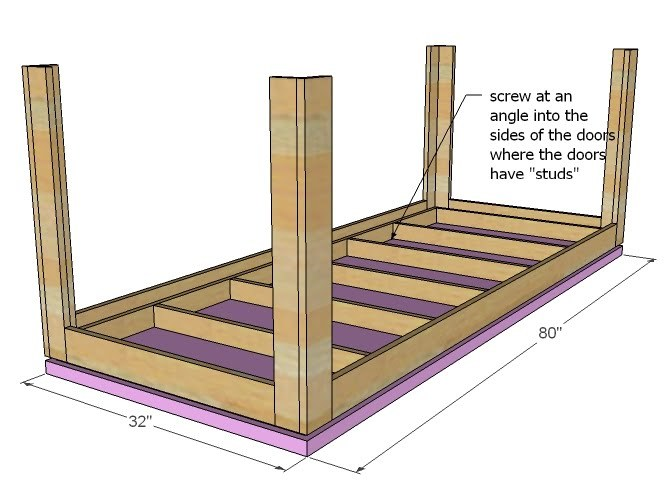 Ana White   How to Build a Floating Table with a Door - DIY Projects