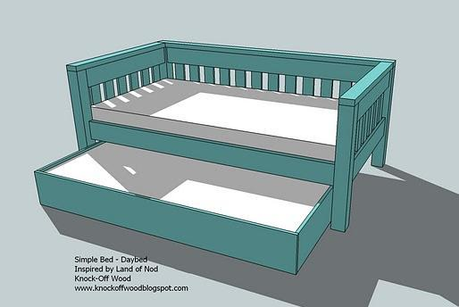 dimensions - Wooden Trundle Bed Frame