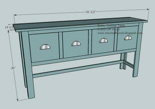 Ana white balin console table diy projects for 12 deep console table