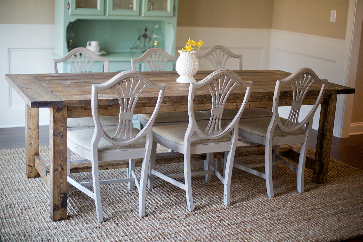 farmhouse table with chairs