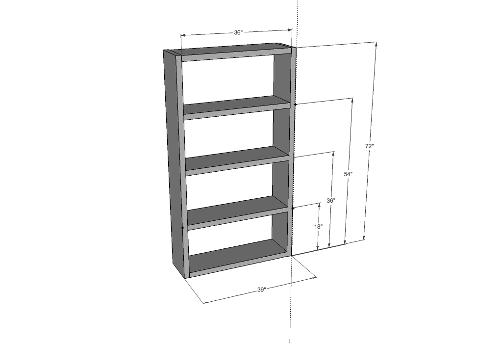 Dimensions: - Ana White IKEA Lack Inspired Bookcase - DIY Projects