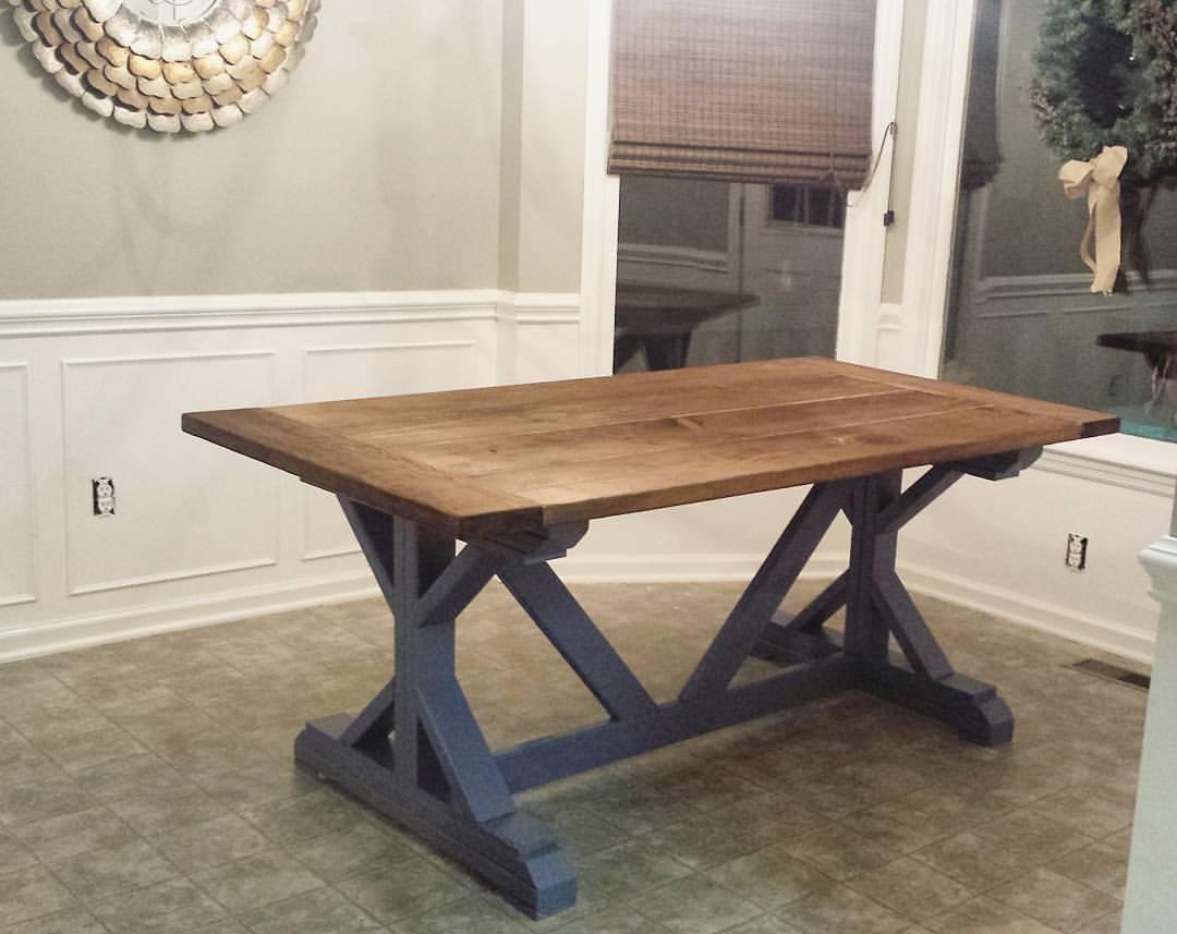 Ana White | X - Farm House Table - DIY Projects