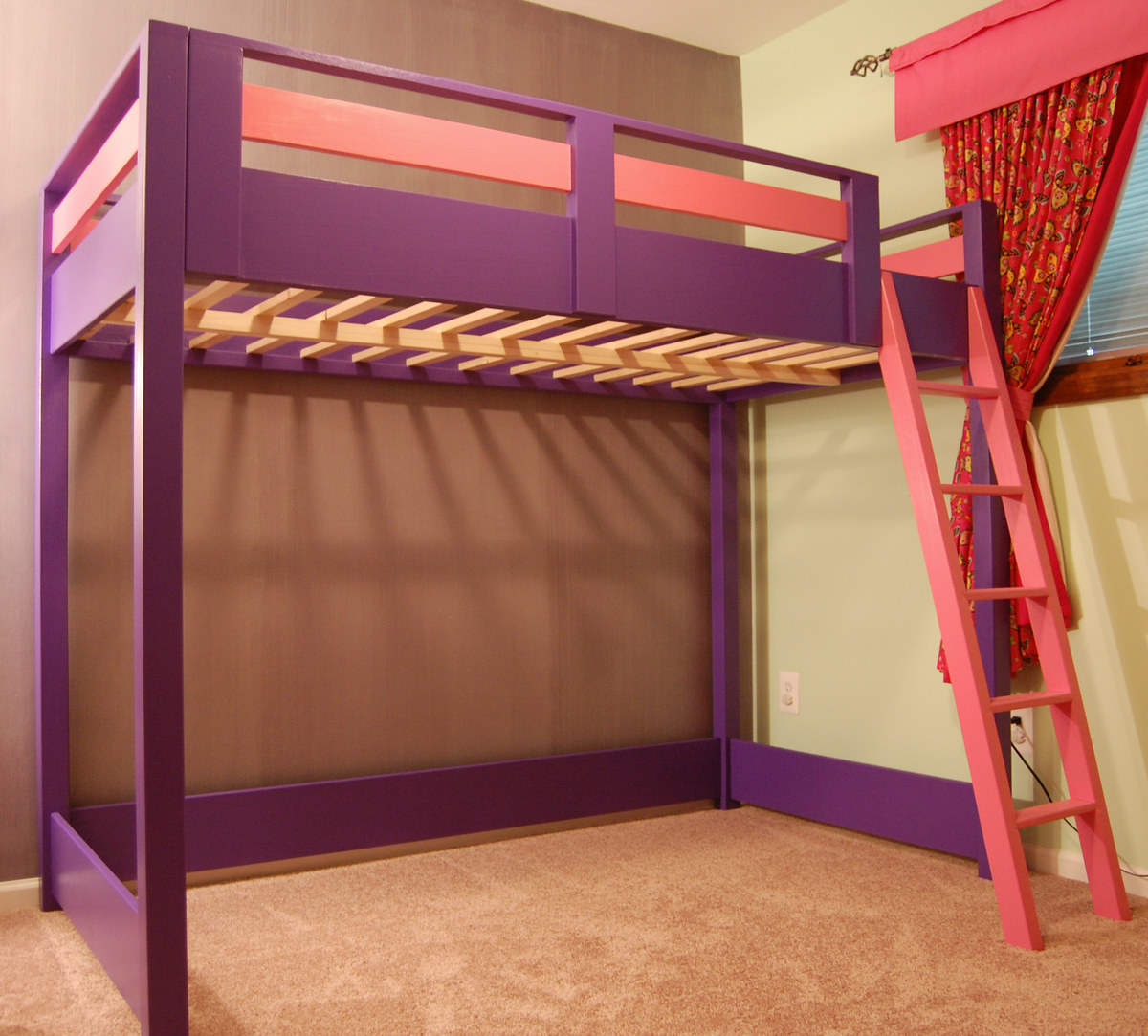 Ana white sleep and play loft bed diy projects Loft bed plans