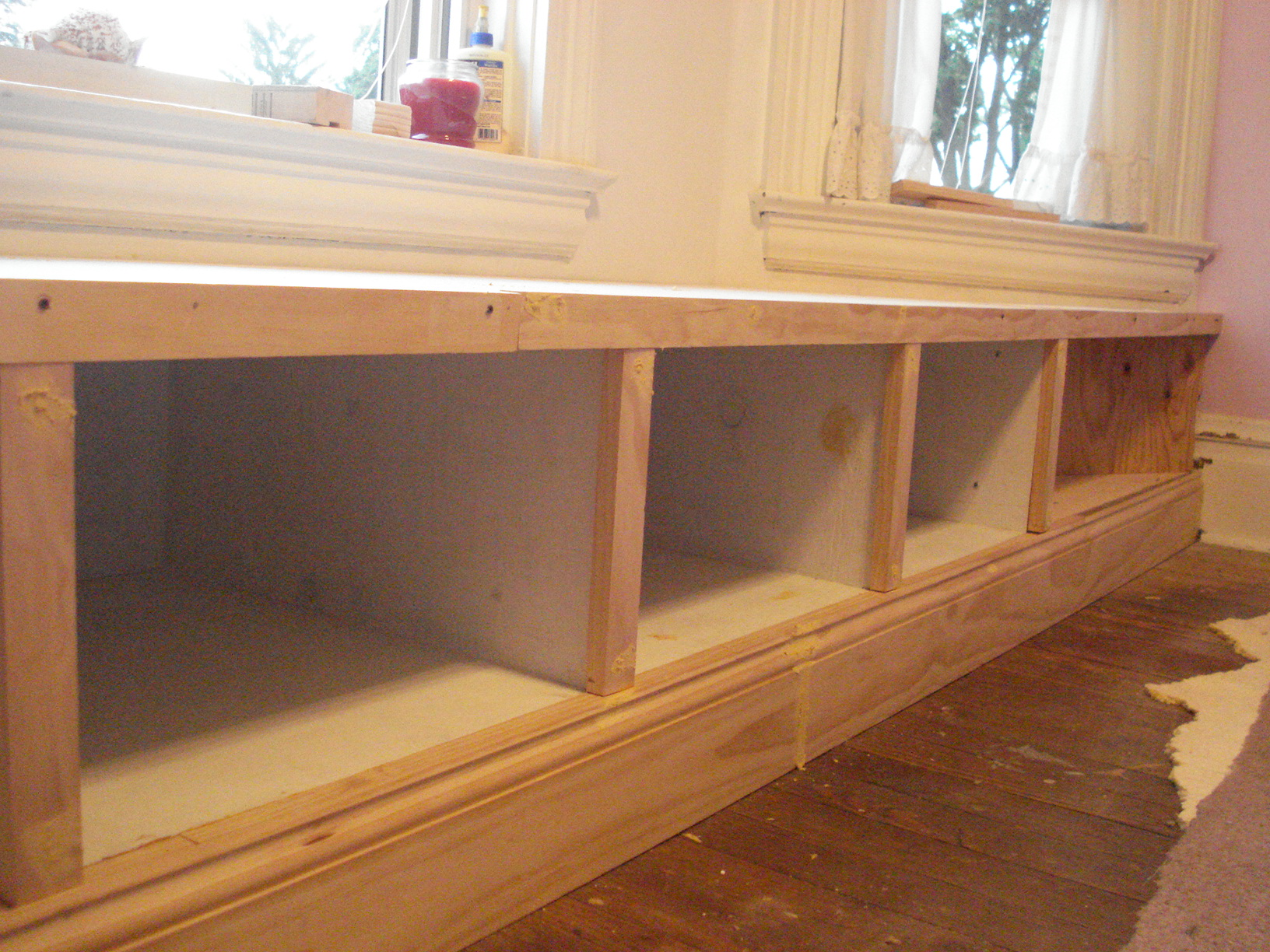 Ana white window seat built in diy projects for Storage bay