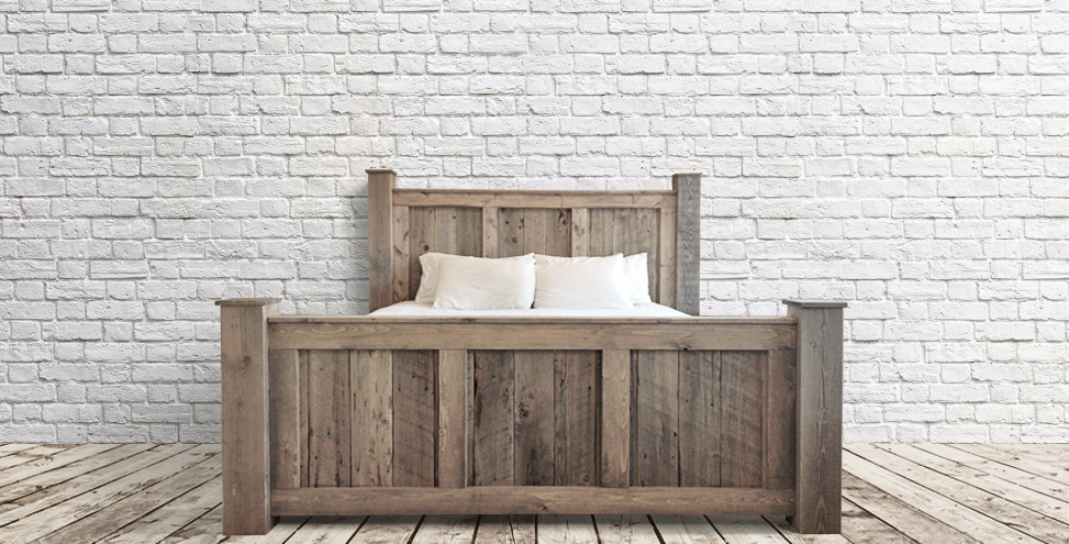 custom rustic king bed