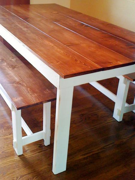 Ana white rustic table diy projects for Kitchen table plans