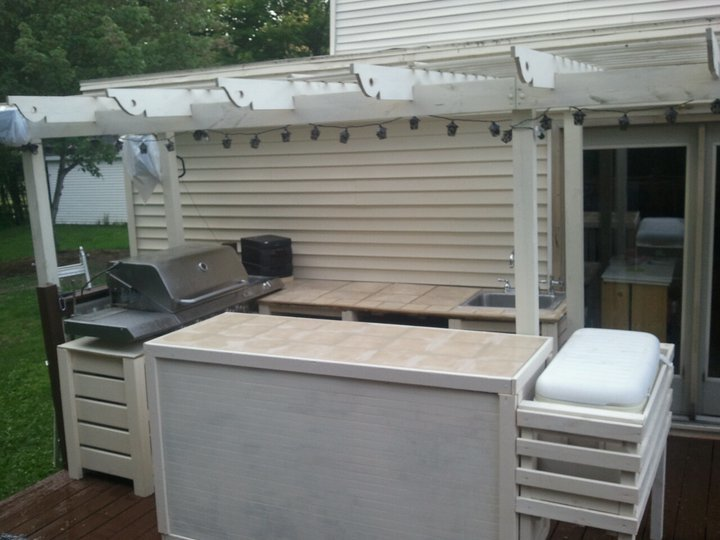 Ana White | New Outdoor Kitchen! - DIY Projects on Patio Kitchen Diy id=71424