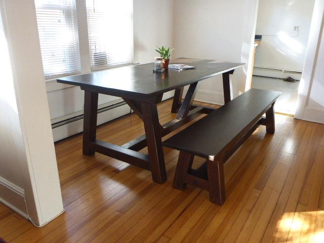 Fantastic 4X4 Truss Table And Bench Ana White Machost Co Dining Chair Design Ideas Machostcouk