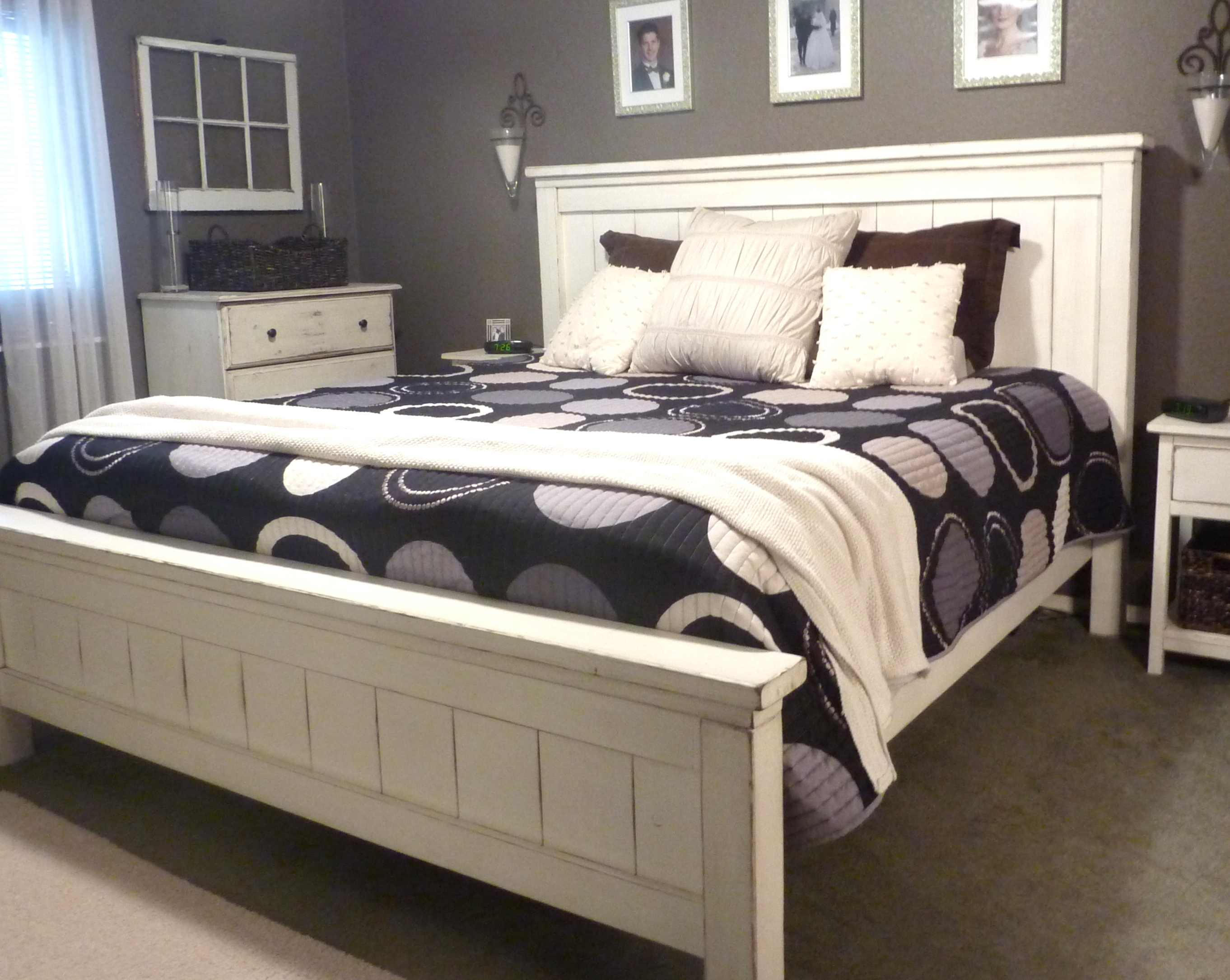 Ana white king farmhouse bed diy projects for King size bed designs