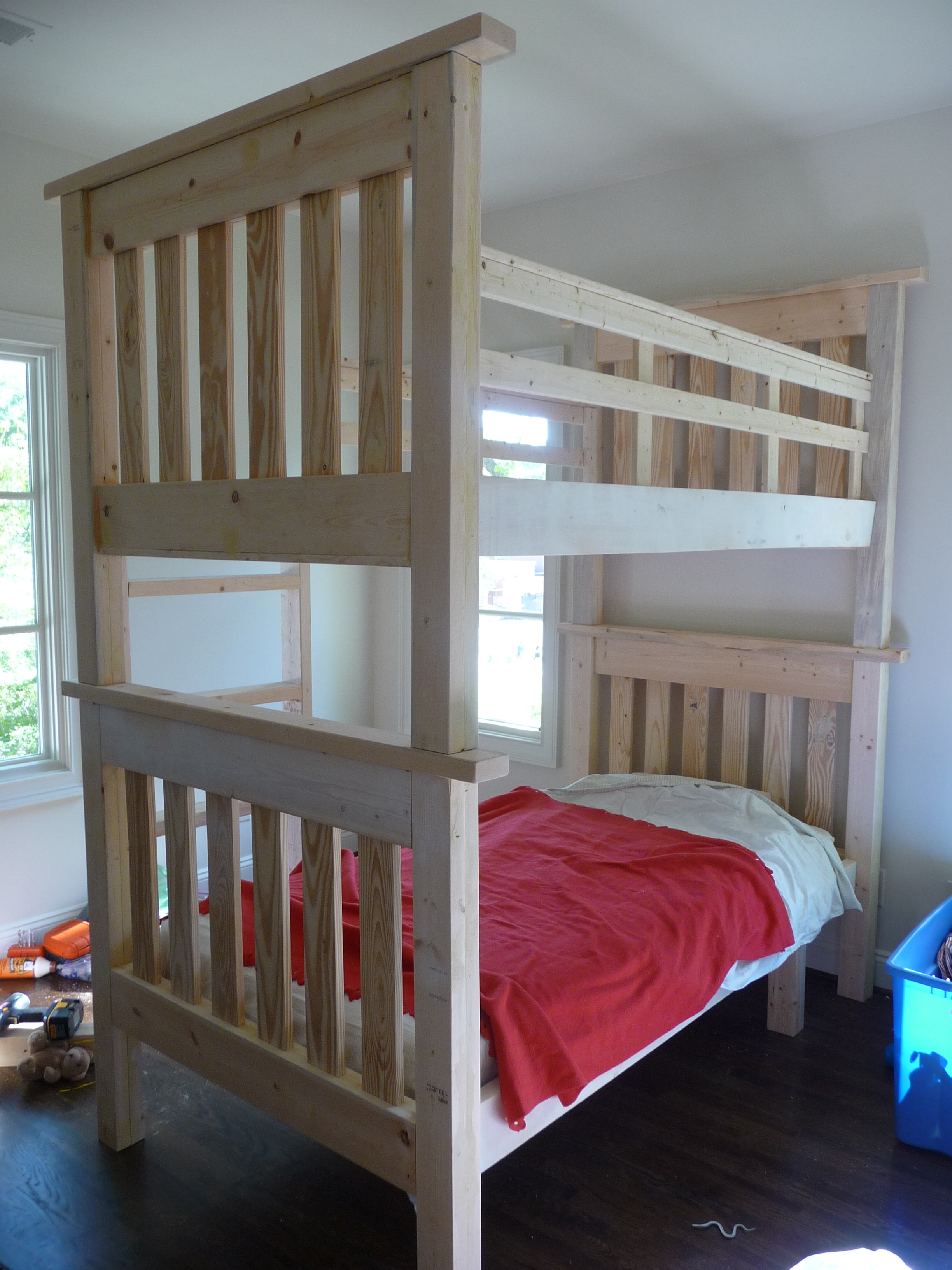 Ana White Simple Bunk Beds My First Ana Project Diy Projects