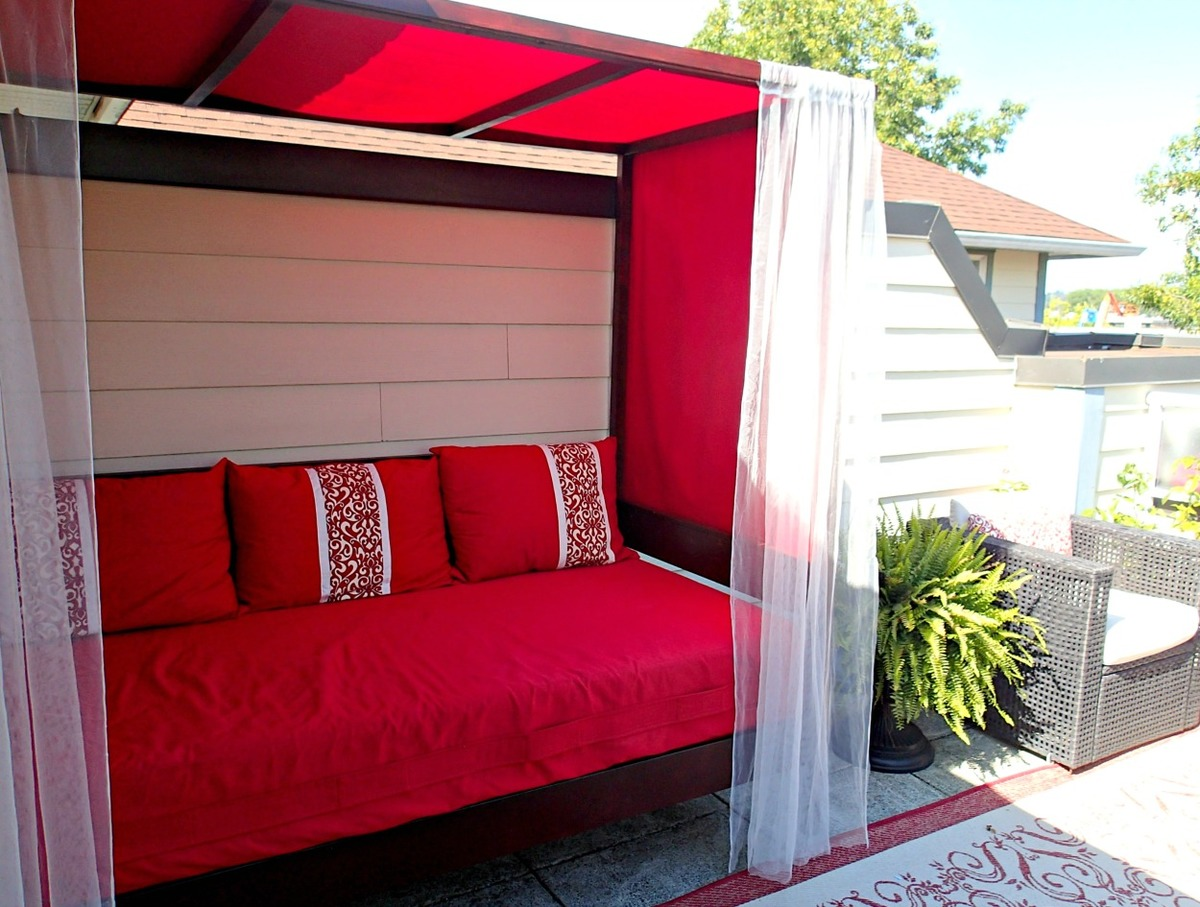 Ana White Outdoor Daybed With Canopy Diy Projects