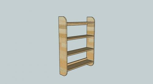 ana white | easy wall bookshelf - diy projects Attach Shelf to Wall