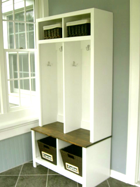 Foyer Mudroom Units : Ana white entry cubbies diy projects