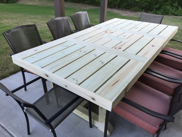 Ana white patio table diy projects patio table watchthetrailerfo