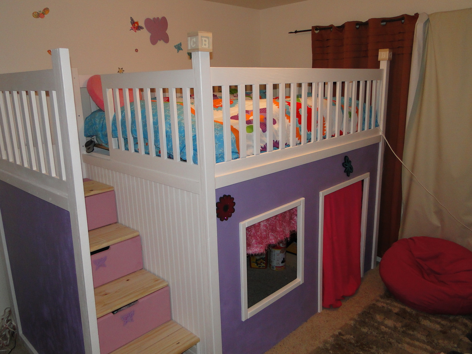 Ana White Custom Playhouse Bunkbed Diy Projects
