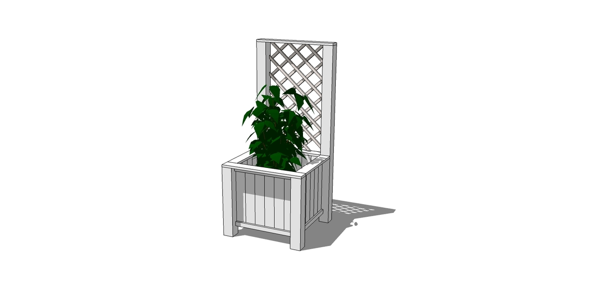 Planter Box With Trellis