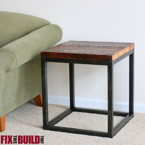 Ana White | Reclaimed Industrial Side Table - DIY Projects