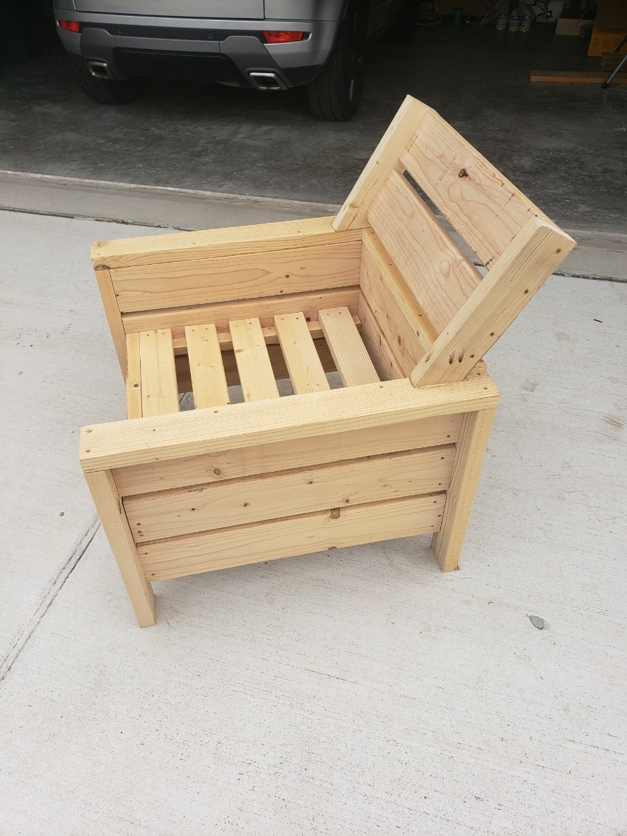 Terrific Modern Outdoor 2X4 Chair With Modification Ana White Ibusinesslaw Wood Chair Design Ideas Ibusinesslaworg