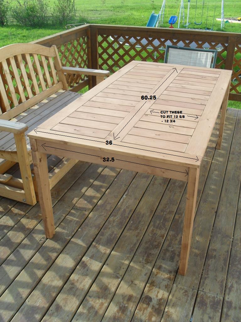 ana white modified simple outdoor dining table diy projects