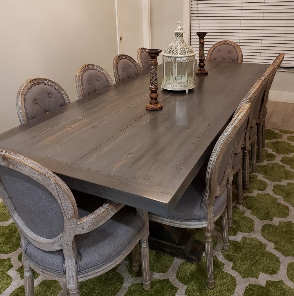 Ana White Dining Room Table: All Cedar Farm House Dining Room Table