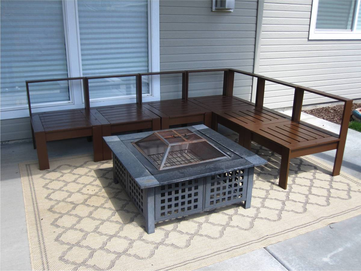 outdoor wood sectional furniture plans