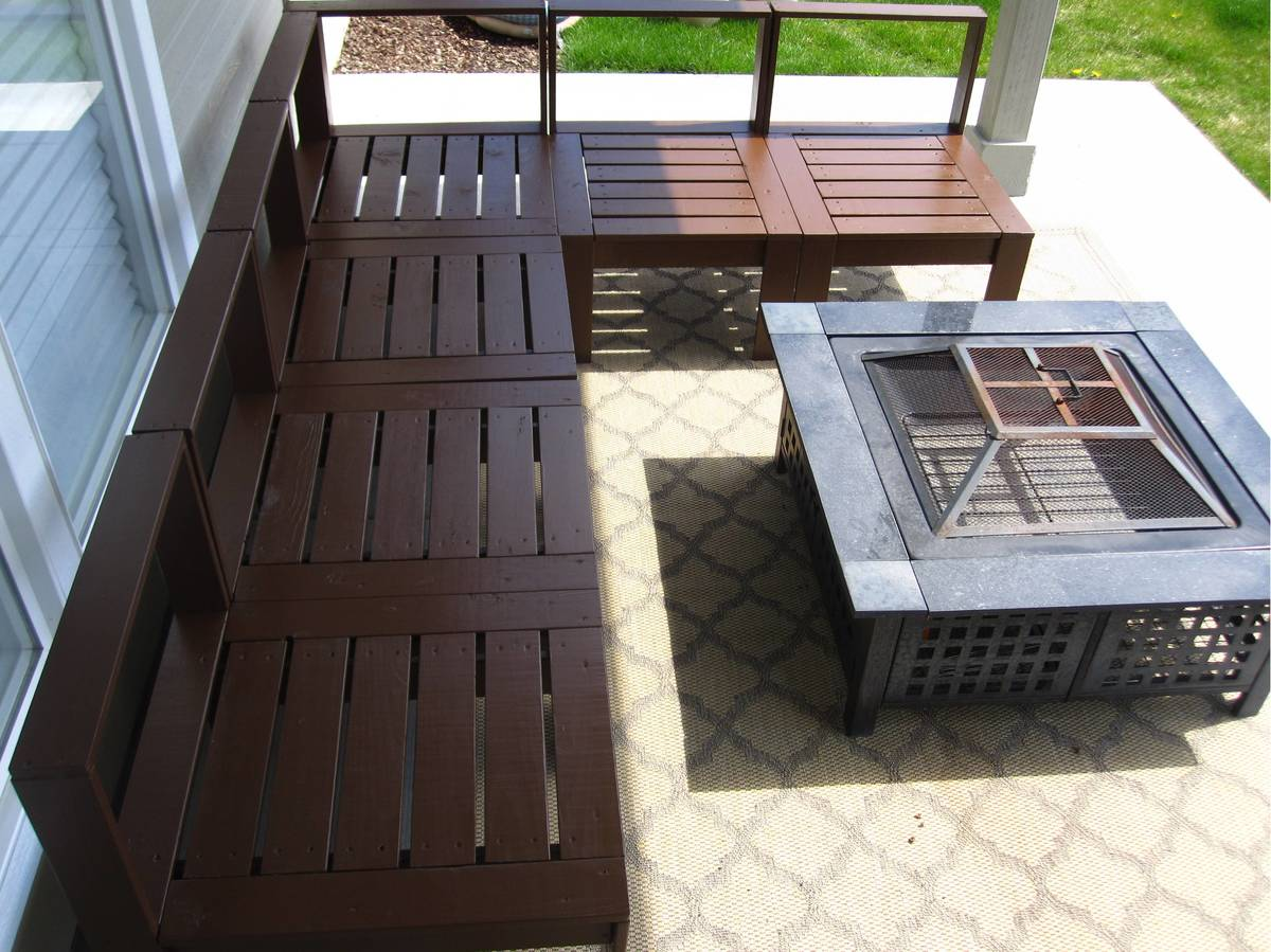 ana white outdoor sectional diy projects
