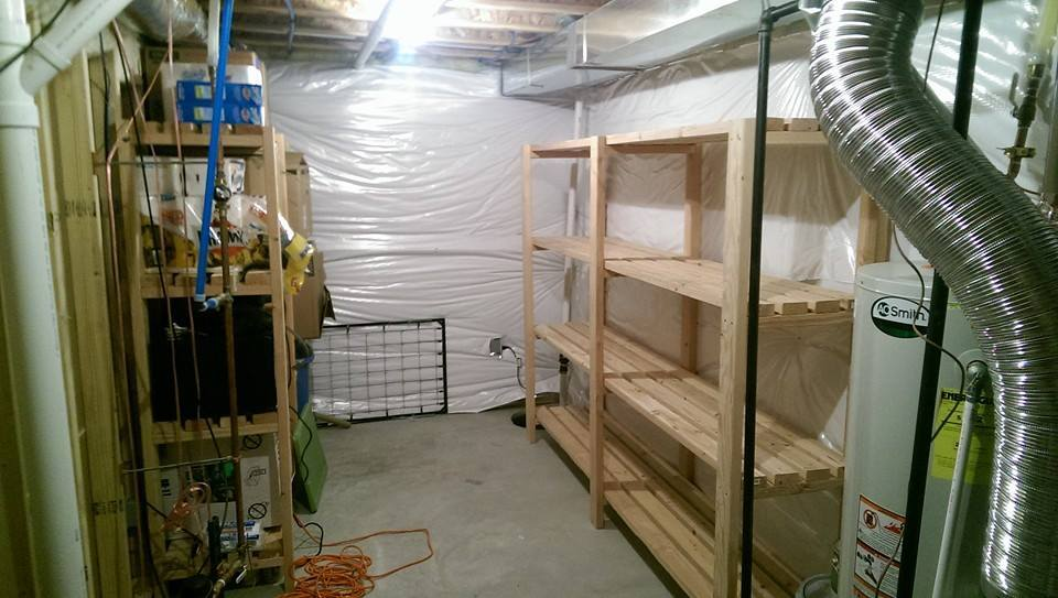 Basement Storage Shelves & Ana White | Basement Storage Shelves - DIY Projects