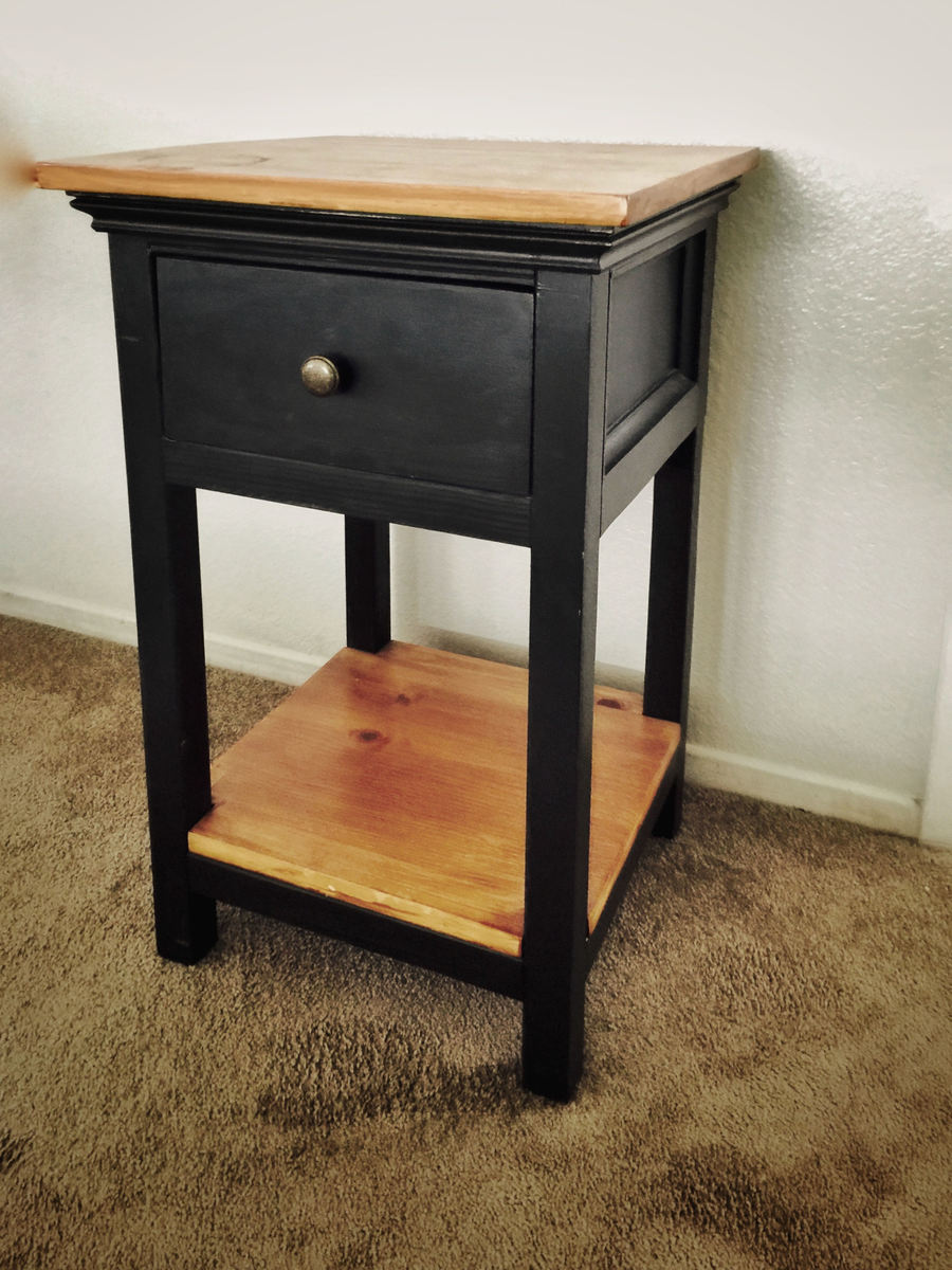 Smart Bedside Table: Dressed Up Mini Farmhouse Bedside Table