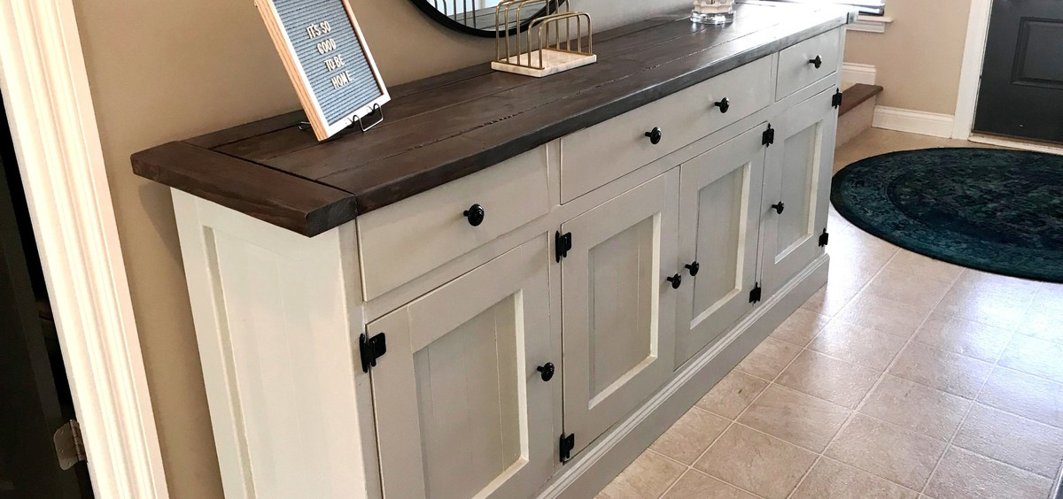 Ana White Diy Rustic Sideboard Diy Projects