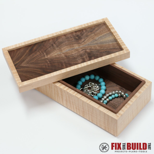 Ana white wooden jewelry box diy projects for Jewelry box made of wood