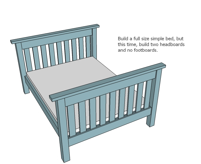 Simple Bunk Bed Plans (Twin over Full) | Ana White