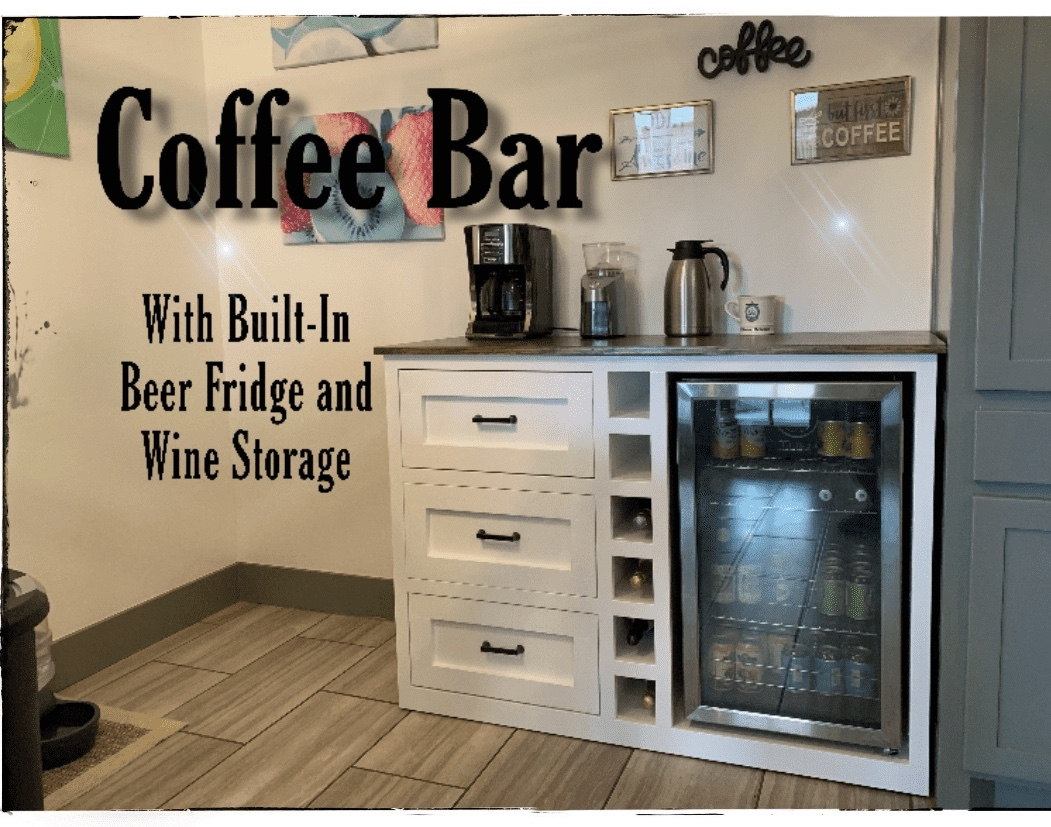 Coffee Bar With Built In Beer Fridge And Wine Storage