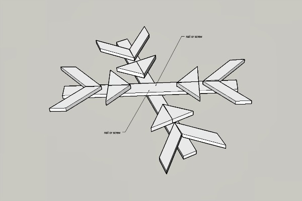instructions on how to make a snowflake
