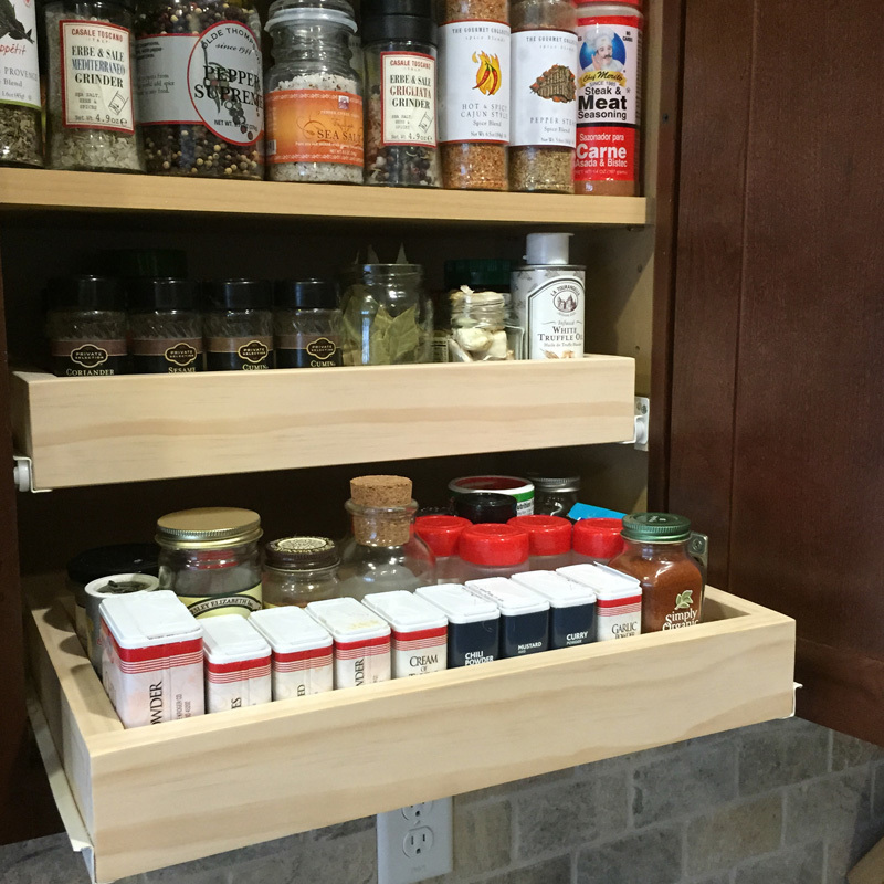 Ana White Slide Out Spice Drawers Diy Projects