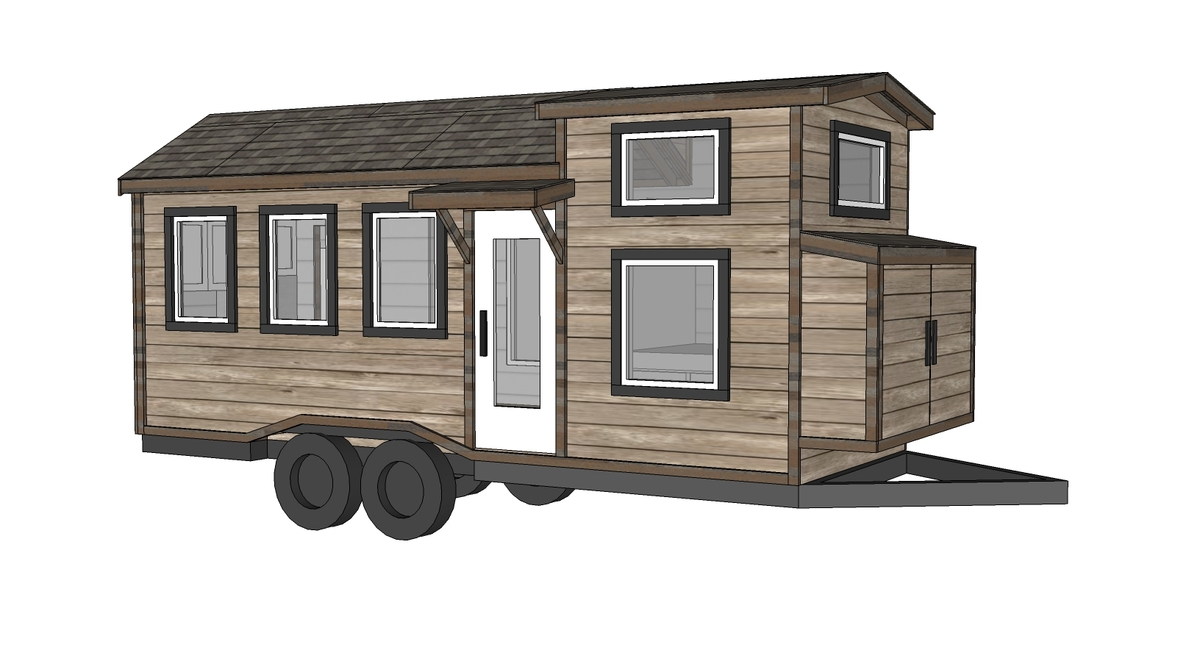 Free Tiny House Plans   Quartz Model With Bathroom