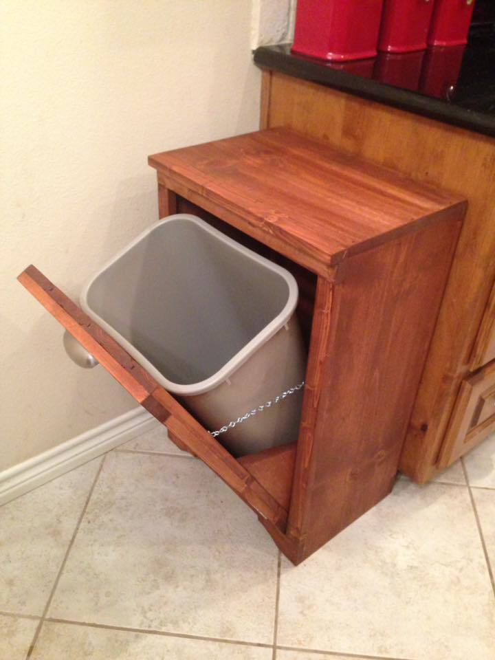 Ana White Tilt Out Wooden Trash Bin Diy Projects