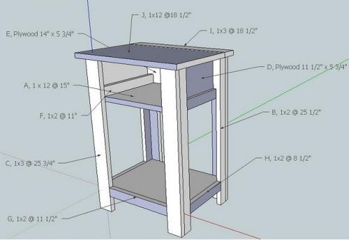 Download how to make a nightstand out of wood plans free for Free nightstand woodworking plans