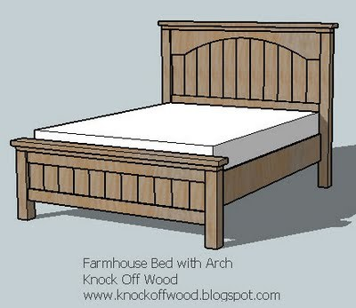 Ana White Farmhouse Bed With Arch Diy Projects