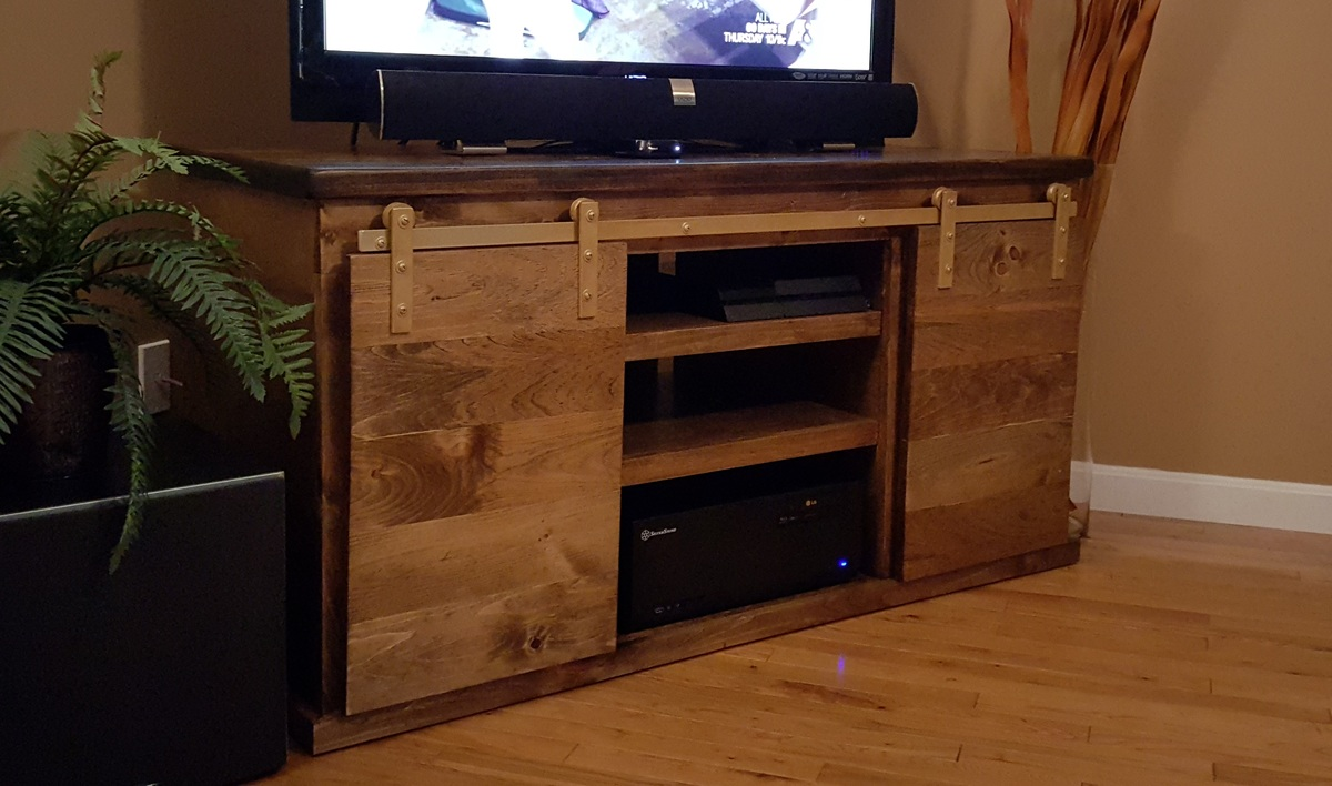 Famous Ana White | Barn door tv stand - DIY Projects IV13